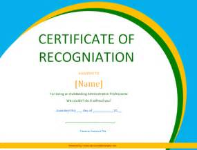 Employee Recognition Certificate Template by Certificate Of Recognition Soft Templates