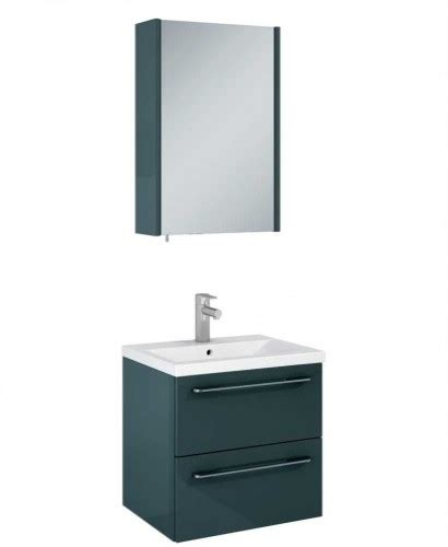 otto bathroom otto plus gloss grey 50 vanity unit