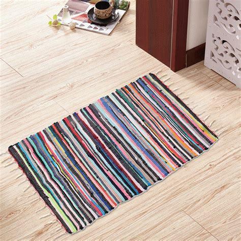 Handmade Mat - large size handmade mat cotton multi colour braided tas