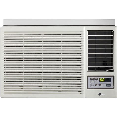 12000 btu room size lg lw1212hr 12 000 btu 230 volt window mounted air conditioner with supplemental heat and remote