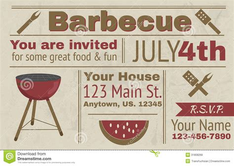 17 summer bbq invitation word template images free