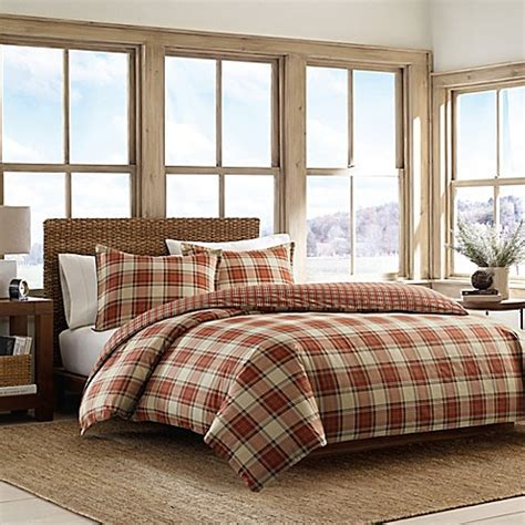 eddie bauer comforter set eddie bauer 174 edgewood plaid comforter set bed bath beyond