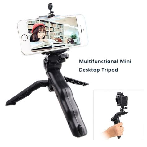 Murah Meriah Tripod Portable Mini Folding 2 In 1 Genggam Dslr paket 2 in 1 portable mini folding tripod for dslr universal cl sc l jumbo black