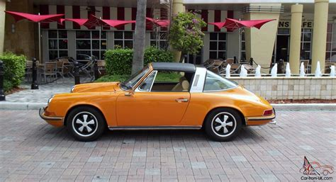 orange porsche targa 1971 porsche 911 t targa 2 2ltr perfect condition coa