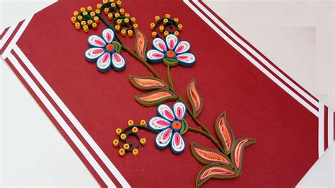 How To Make Paper Design - paper quilling how to make beautiful quilling flowers