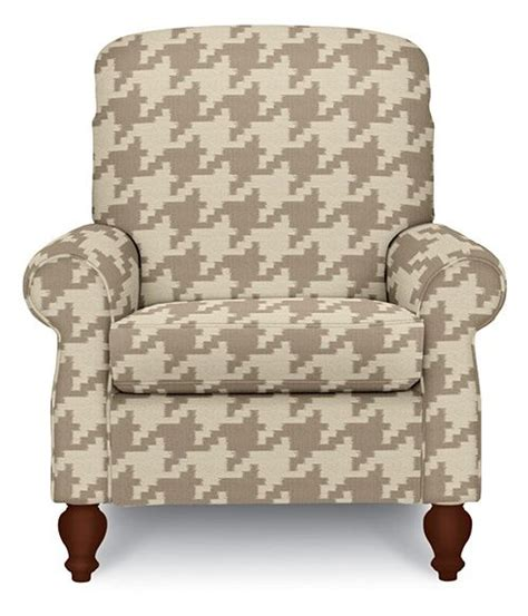 lazy boy fabric recliners fun spindale high leg recliner in houndstooth upholstery