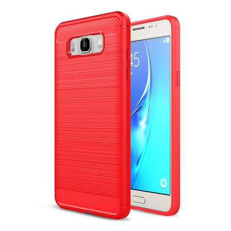 Soft Anti Ultrathin Samsung Galaxy C9 C9 Pro Jelly slim brushed hybrid shockproof back cover for