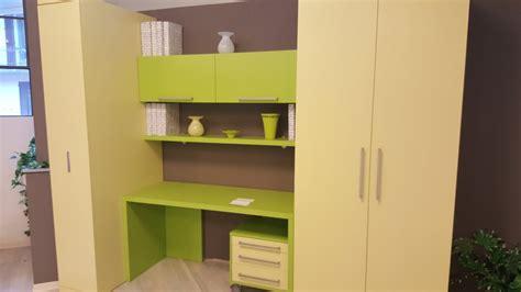 armadio con scrivania composizione con letto slide l 290 con armadio e scrivania