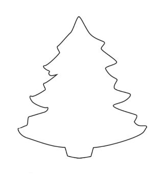 arbol de navidad moldes manualidades diciembre 2010