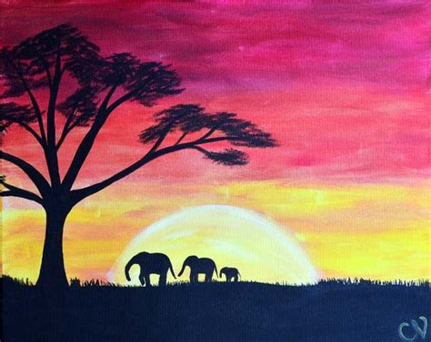 paint nite gainesville fl safari sunset paint nite buy tickets at paintnite