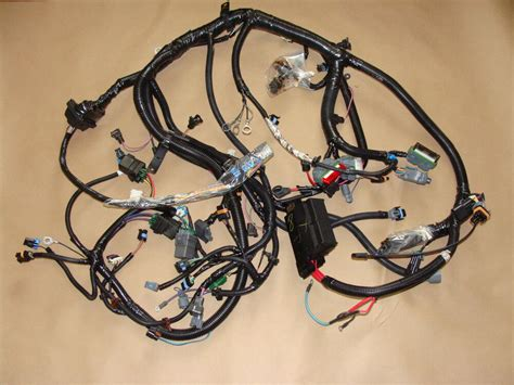 nos gm  lt corvette le automatic engine wiring harness  manual ac ebay