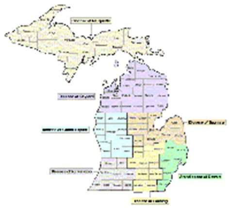 political map of michigan the gallery for gt political map of michigan