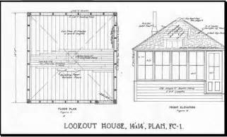 lookout tower plans backcountry historic structures report lookouts olympic national park