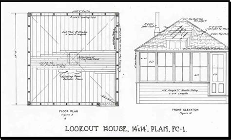 fire lookout tower plans backcountry historic structures report lookouts