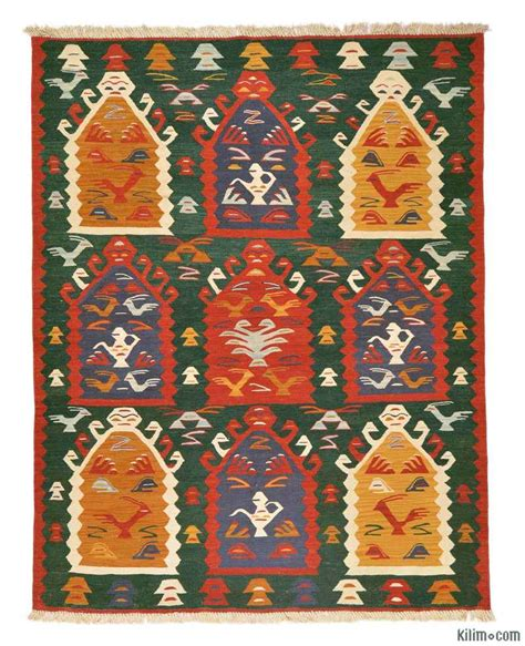 10 X 10 Turkish Kilim Rugs Oversized by K0005827 Green Multicolor New Turkish Kilim Rug