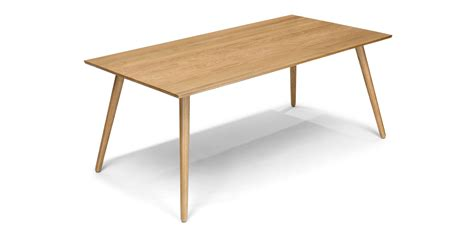 modern oak dining table rectangular dining table in solid wood article seno