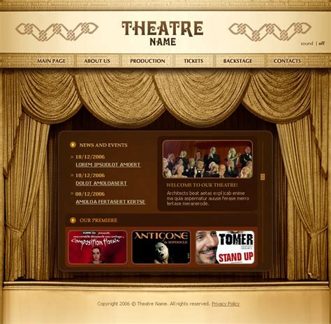 theater flash template 12280