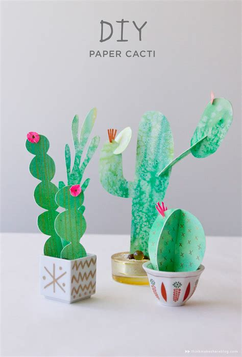 70 Faux Cactus Succulent Projects And Ideas Paper Cactus Template