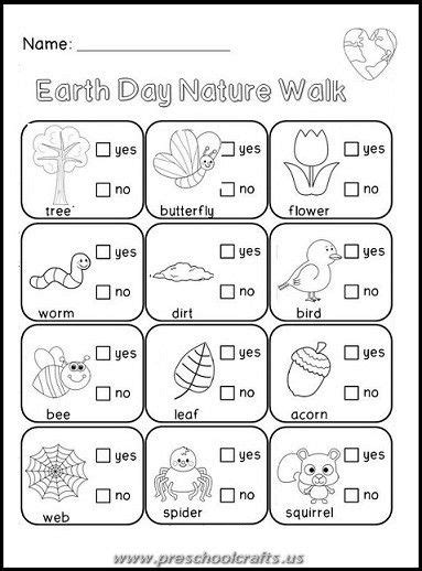 free printable earth day worksheets for kids preschool