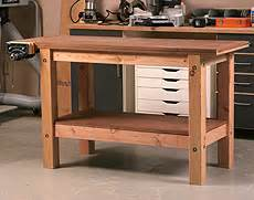Build a simple sturdy workbench the base startwoodworking com
