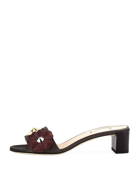 Block Heel Slide Sandals fendi flowerland block heel slide sandal gray