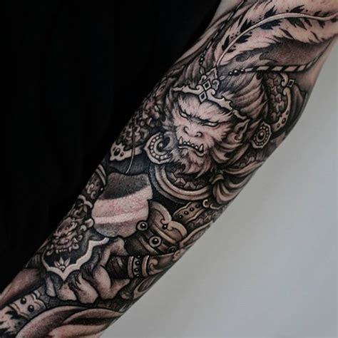 alectric city tattoo sun wukong half sleeve by winson tsai from chronic ink