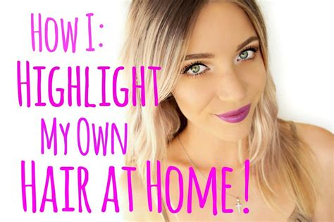 how to get hair highlights on hair by yourself at