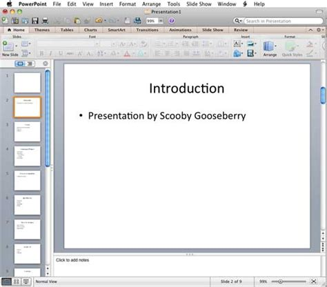 Powerpoint Outline View Mac by Swot Analysis Exle