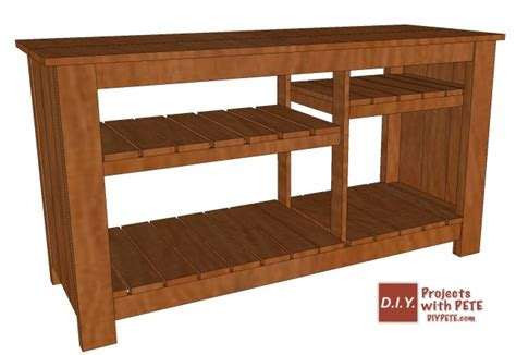 tv console woodworking plans make a wood tv console diy pete