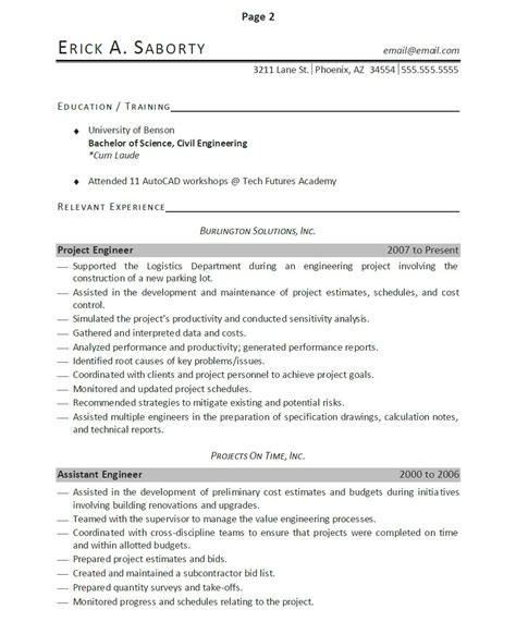 resume sles with accomplishments listed