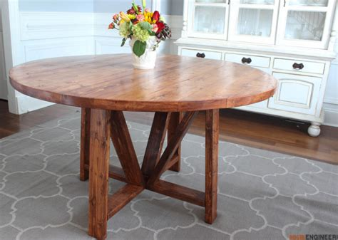 trestle dining table free diy plans rogue engineer