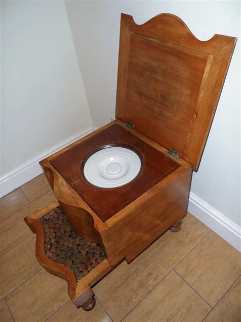 Commode Pot by Commode Chair Stool With Copper 1 2 Top