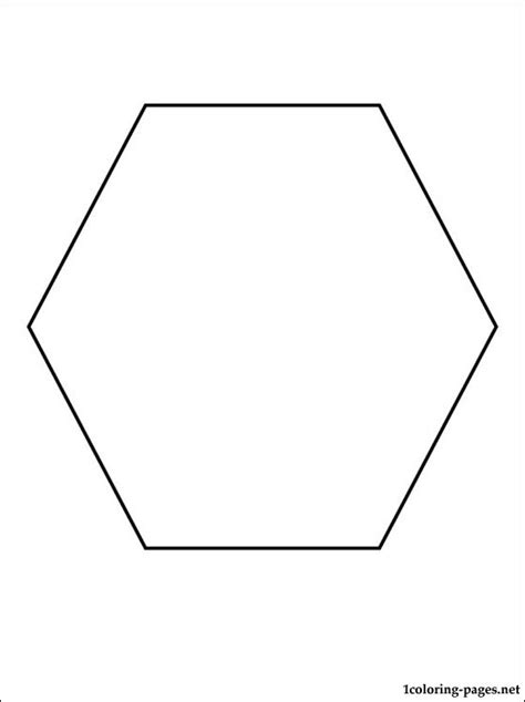 Hexagon coloring page | Coloring pages