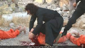 Photos isis savages brutally beheading 5 alleged spies in iraq