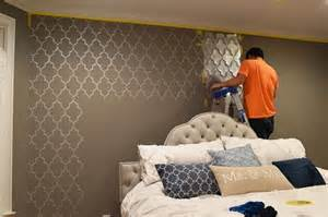 wall stencils for bedroom bedroom makeover a stenciled touch of drama 171 stencil stories