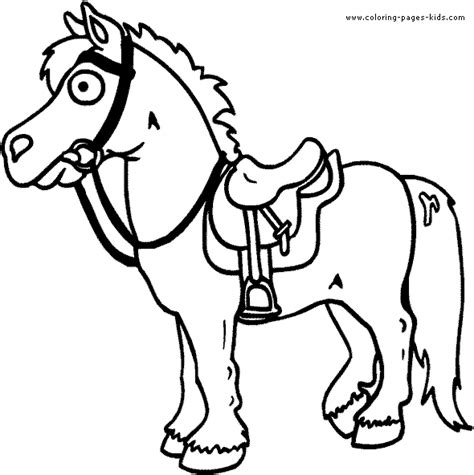 coloring pages animals horses pony color page