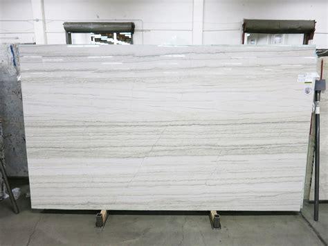 In White white macaubas vein cut polished pental surfaces