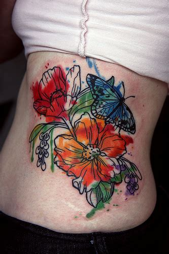 tattoo boogaloo watercolor flower i at boogaloo