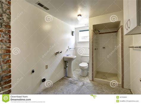 construction of bathroom empty bathroom construction stock photo image