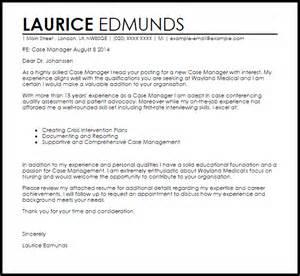 Case Manager Cover Letter Sample Livecareer