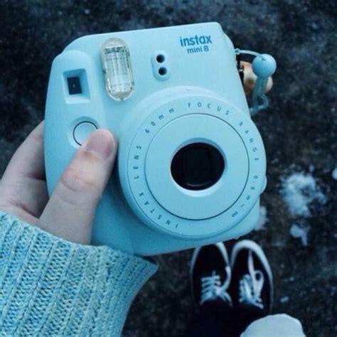light blue polaroid blue polaroid