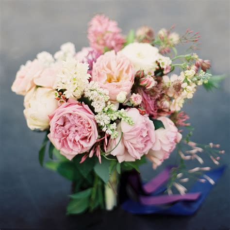 Garden Roses Pink Lilac Spring Bridal Bouquet Once Wed Pink Garden Flowers