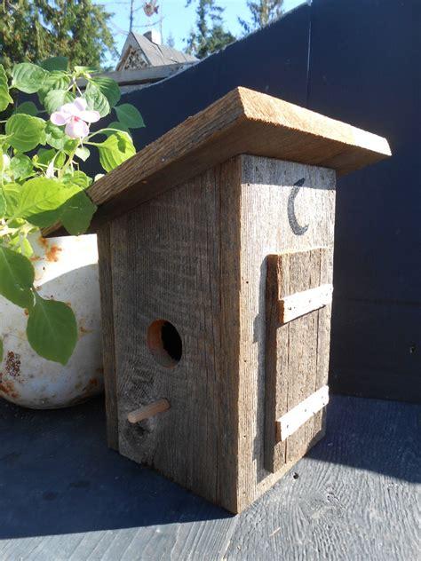 outhouse birdhouse barn wood bird house reclaimed wood