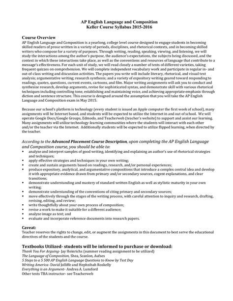 15.16 Syllabus AP Language and Composition