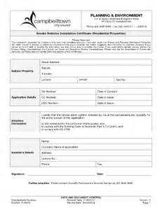 alarm installation certificate template smoke detector certificate fill printable