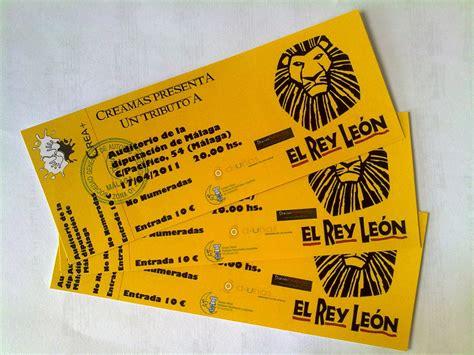 entradas rey leon precios entradas descuento rey leon vales de descuentos
