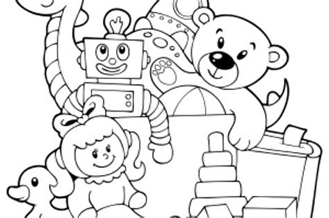 toys coloring pages preschool toy box clip art coloring coloring pages