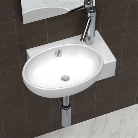 bathroom sink basin ceramic sink basin faucet overflow hole bathroom white