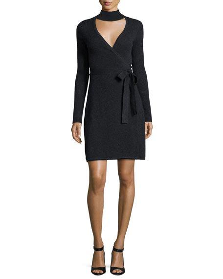 knit wrap dress diane furstenberg janeva knit wrap dress charcoal