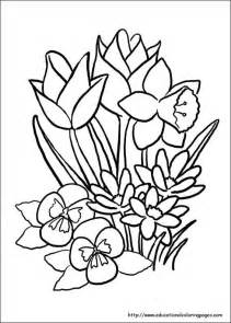 Galerry large flower coloring pages